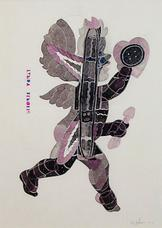 Ray Johnson, <i>Cupid with Tender Button</i>, 1976.