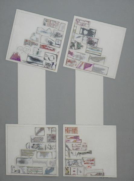 Unattached, 1965 collage on illustration board 24.375 x 18.25 inches 61.9 x 46.4 cm
