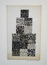 Untitled 14 Squares , circa 1956, collage on cardboard panel, 20 1 4 x 15 inches