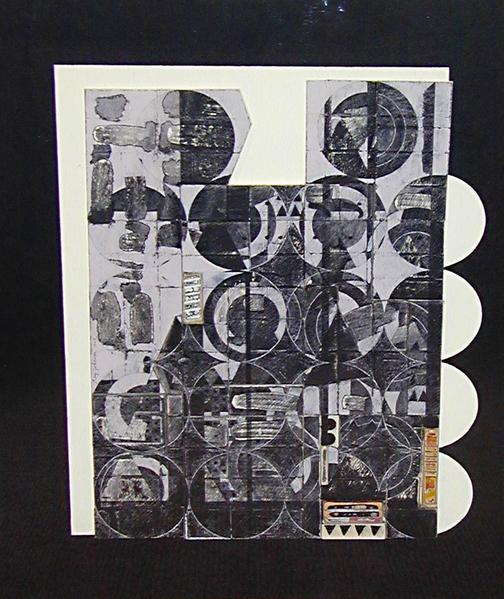 May Circles, 1969 collage on cardboard panel 19.5 x 16.125 inches (49.5 x 41 cm.)