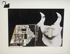 Untitled I Love Cy , 1970-85 collage on illustration board 13.5 x 17 inches 34.3 x 43.2 cm