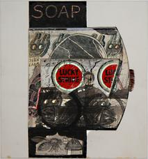 Untitled Soap Lucky Strike , not dated collage on illustration board 9 x 8 inches 22.9 x 20.3 cm