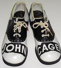 Ray Johnson, A Shoe John Cage Shoes , 1977, 12 x 8.75 inches