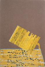 Gasoline, 1958 collage on cardboard panel 14.5 x 11.5 inches 36.8 x 29.2 cm