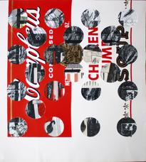 Ray Johnson, <i>Untitled (Campbell's Soup with Cut-out Circles)</i>, 1973-1988.
