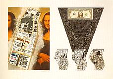 Cervix Dollar Bill, 1970. Collage 20-1 16 x 28. The Corcoran Gallery of Art, Washington, D.C. Gift of Dr. and Mrs. Jacob Weinstein