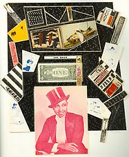 Joe Buck Dollar Bill, 1970. Collage 30-1 2 x 21-1 2. Frances Beatty and Allen Adler