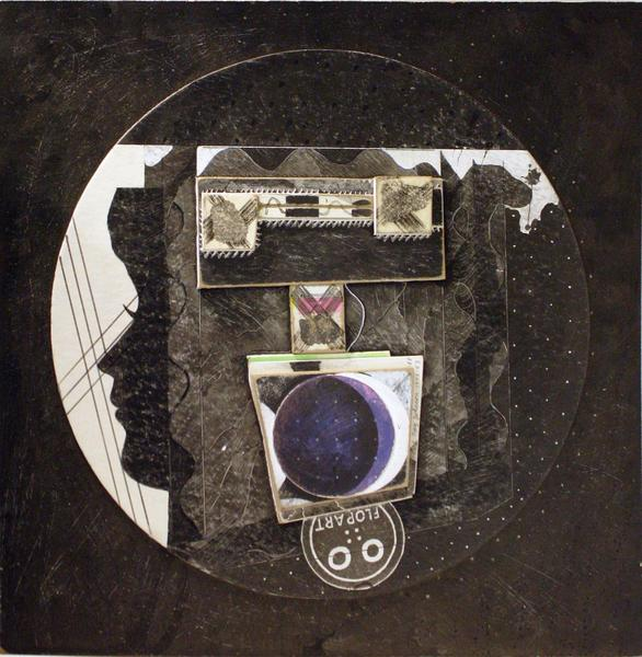 Untitled (Holly Solomon with Duchamp and Flop Art), 1975-83-88 collage on masonite 15 x 15 inches (38.1 x 38.1 cm.)