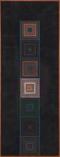 Ray Johnson, Seven Centers of a Ladder,circa 1949-1951, Oil on board, 40 x 15 inches