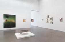 Installation shot of Ray Johnson works in Strategic Vandalism