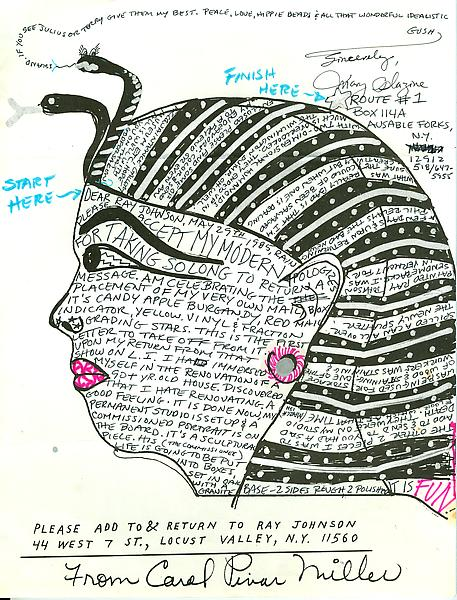 37 - To Ray Johnson - Mail Art & Ephemera - Art - Ray Johnson Estate