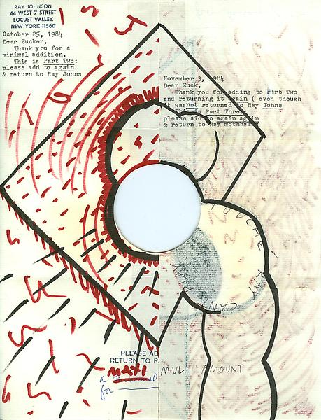 To Ray Johnson - Mail Art & Ephemera - Art - Ray Johnson Estatetest