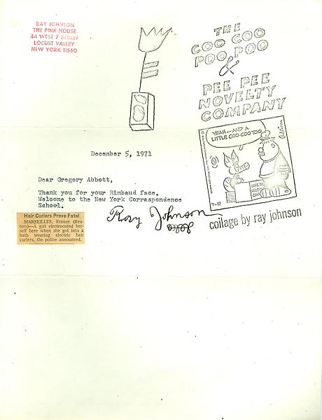 76 - From Ray Johnson - Mail Art & Ephemera - Art - Ray Johnson Estate
