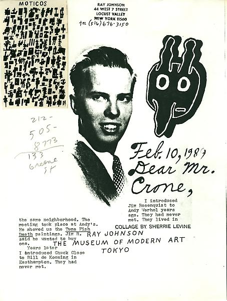 120 - From Ray Johnson - Mail Art & Ephemera - Art - Ray Johnson Estate