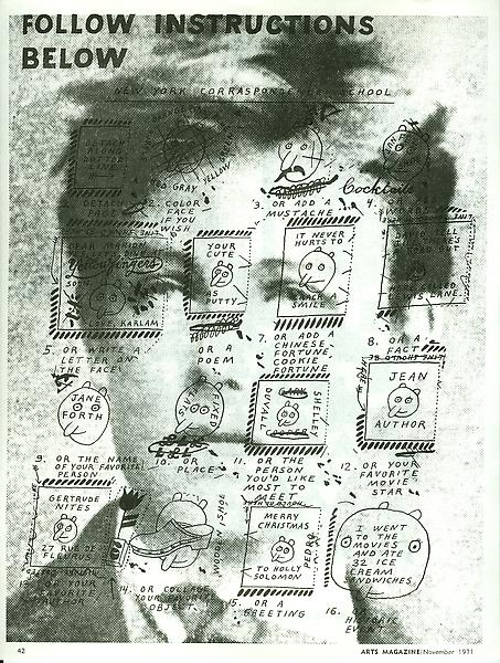 From Ray Johnson - Mail Art & Ephemera - Art - Ray Johnson Estatetest