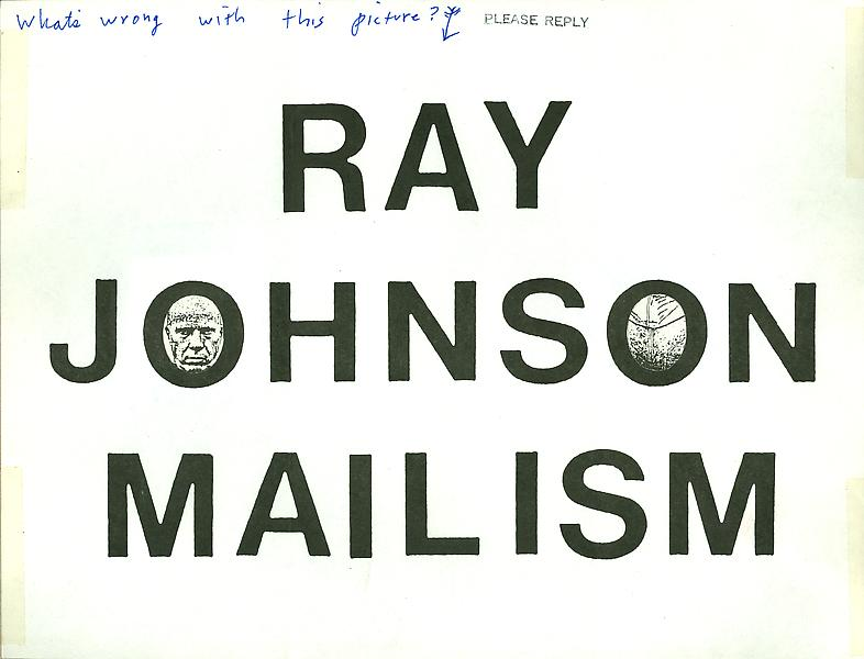 10 - To Ray Johnson - Mail Art & Ephemera - Art - Ray Johnson Estate