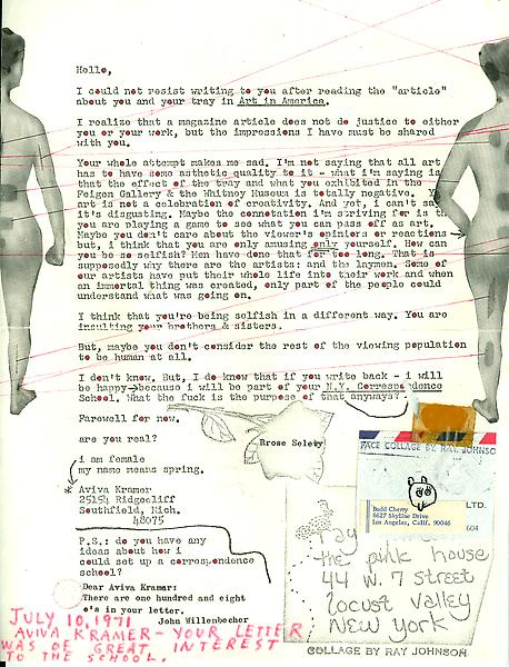 13 - To Ray Johnson - Mail Art & Ephemera - Art - Ray Johnson Estatetest