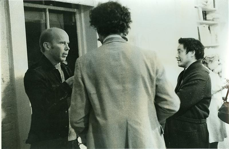 Ray Johnson with Nam June Paik, 1975. Photo by H. Edelhest