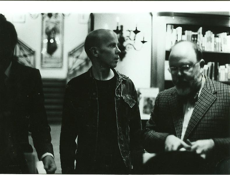 Ray Johnson with Henry Geldzahler, c. 1965. Photo by William S. Wilson
