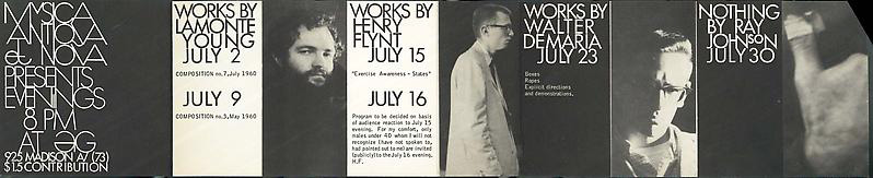 The flyer for Ray Johnson s first publicly performed Nothing , 1961