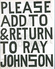Ray Johnson Please Add To Return