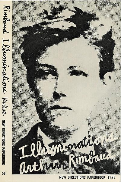 Ray Johnson's cover design for Arthur Rimbaud's Illuminations, New York: New Directions, 1957. - Ray_JohnsonA_Rimbaud0