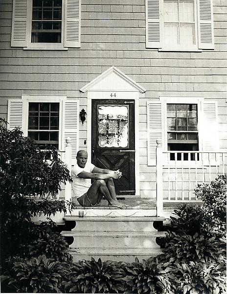 Ray Johnson at his house in Locust Valley, NY 1972. Accompanied