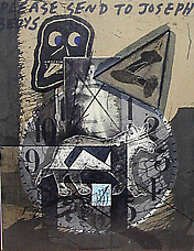Untitled Please Send to Joseph Beuys, 1980-90. Collage on cardboard panel 11.5 x 9. Richard L. Feigen