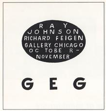 Exhibition advertisement in the October 1967 issue of Artforum designed by Ray Johnson