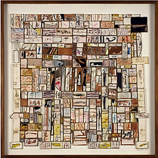 Autumn Painting, 1965. Collage on cardboard panel, 58 x 58 cm. Richard L. Feigen
