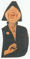 Untitled Marianne Moore , 1963. Collage 16.7 x 8.5 cm. William S. Wilson