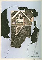 Amei Wallach, 1977. Collage on masonite. 15-7/8 x 15-7/8 in. Richard L. Feigen