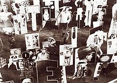 Detail of Ray Johnson s early moticos installation, ca. 1955. Photo by Ad Reinhardt