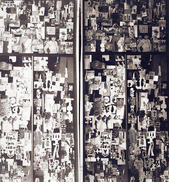 Detail of Ray Johnson s early moticos installation, ca. 1955. Photographer unknown